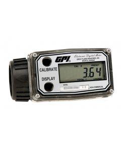 "GPI 03N30GM 1"" 0.3-3 GPM Nylon Turbine Meter"