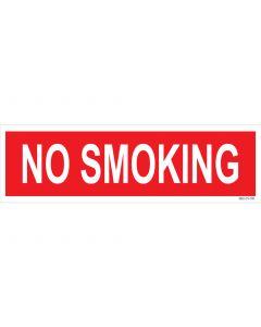 "4"" X 13.5"" No Smoking Pump Decal"