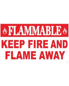 "18"" X 30"" FLAMMABLE KEEP FIRE AND FLAME AWAY Decal"