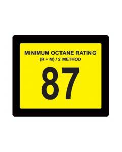 87 OCTANE Decal