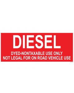 """9"""" X 22"""" DYED DIESEL Decal"""