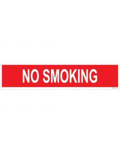"4"" X 18"" NO SMOKING Decal"