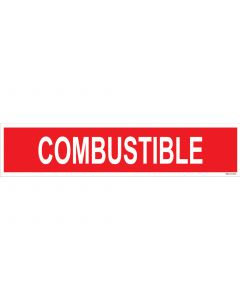 "4"" X 18"" COMBUSTIBLE Decal"