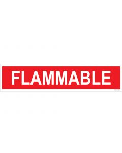 "4"" X 18"" FLAMMABLE Decal"