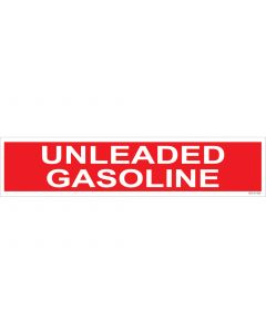 "4"" X 18""  UNLEADED GASOLINE Decal"