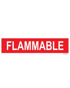 "3"" X 12"" FLAMMABLE PUMP Decal"