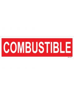 "4"" X 13.5"" COMBUSTIBLE PUMP Decal"