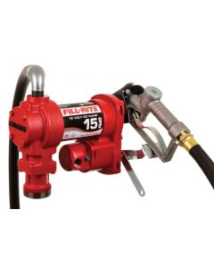 Fill-Rite FR1210H 12V DC 15GPM Heavy-Duty Fuel Transfer Pump With Manual Nozzle