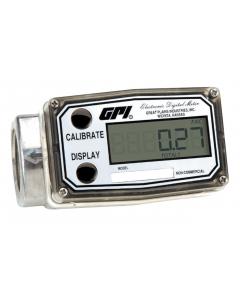 "GPI 03A30GM 1"" 0.3-3 GPM Digital Turbine Meter"